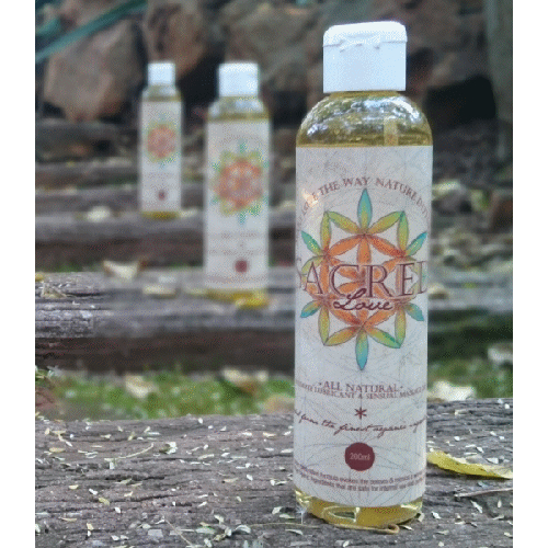 Sacred Love Organic Intimate Lubricant and Massage Oil