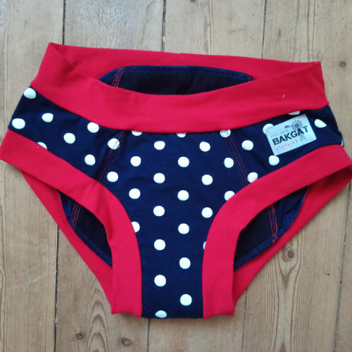Miss Ruby Period Panties Fun Prints Red and Blue polka dots Shop Online Butterfly Wings